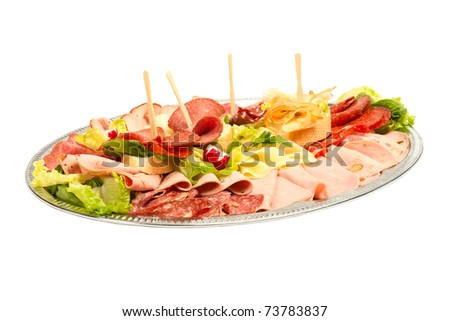 cateirng cold plate - stock photo