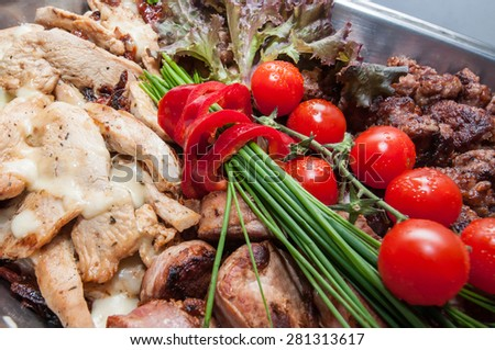 Catering different types of food for a reception - stock photo