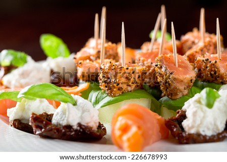 catering food - stock photo
