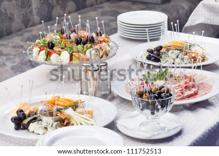 catering food on table - stock photo