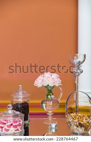 Catering sweets. Dessert buffet. - stock photo