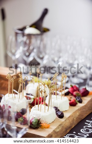 catering table - stock photo