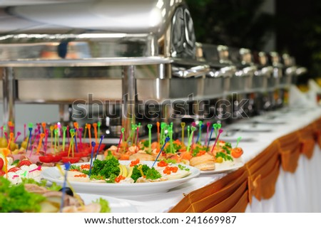 catering wedding - stock photo