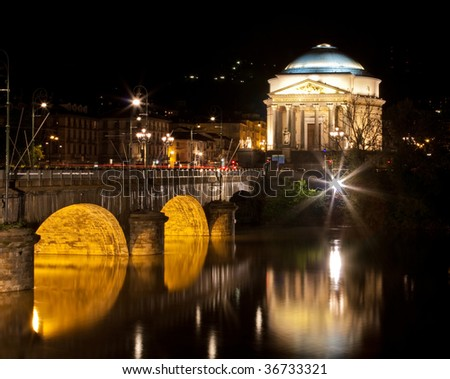 Cathedral by night - stock photo