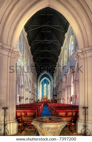 Cathedral Entrance - stock photo
