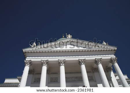 Cathedral Helsinki Finland - stock photo