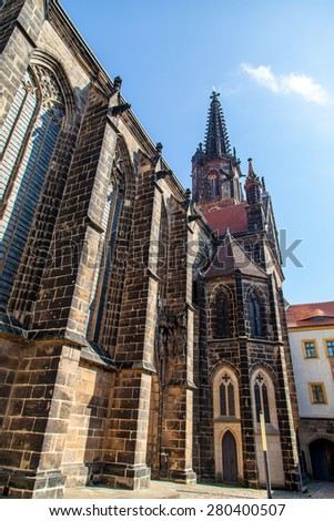 Cathedral in Albrechtsburg castle, center of Meissen, Germany, Europe - stock photo
