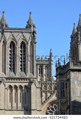 Cathedral in Bristol, Southwest England - stock photo