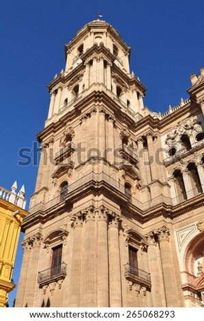 cathedral in Malaga,Spain - stock photo