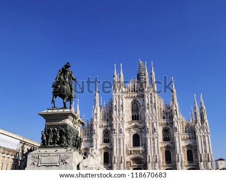 Cathedral in Milan, Lombardy, Italy - stock photo