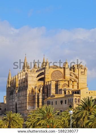 Cathedral in Palma de Mallorca, Balearic Islands, Spain - stock photo