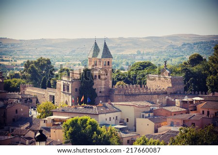 Cathedral in Toledo town, Spain - stock photo