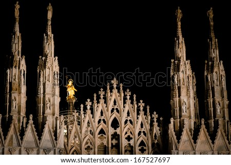 cathedral Milan - Duomo - stock photo