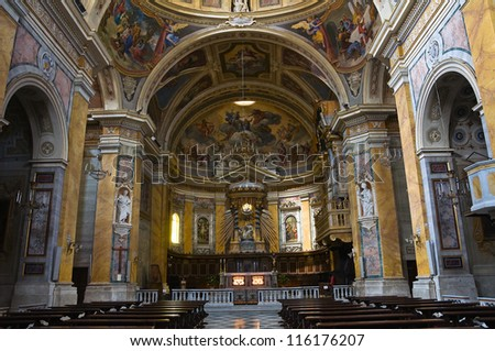 Cathedral of Amelia. Umbria. Italy. - stock photo