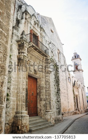 Cathedral of Havana, Cuba - stock photo