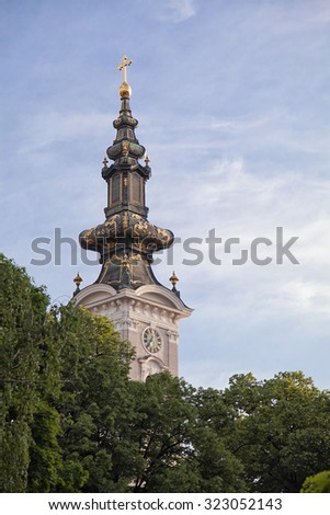 Cathedral of Holy Great-Martyr George in Novi Sad, Serbia - stock photo