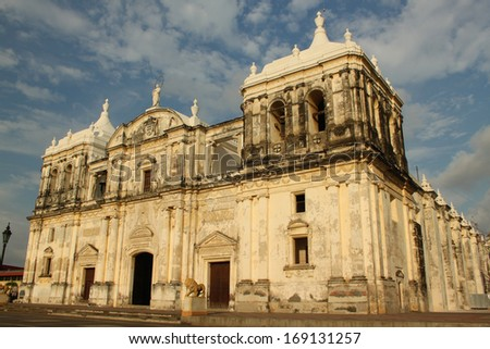Cathedral of Leon, Nicaragua  - stock photo