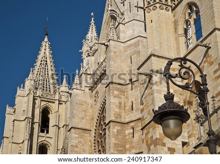 Cathedral of Leon, Spain - stock photo