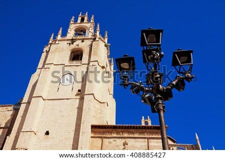 Cathedral of Palencia, Palencia, Castilla and Leon, Spain - stock photo