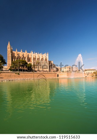 Cathedral of Palma de Majorca - stock photo