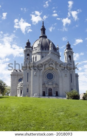 Cathedral of St. Paul St. Paul MN - stock photo