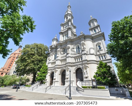 Cathedral of the Blessed Sacrament in Sacramento, California. - stock photo