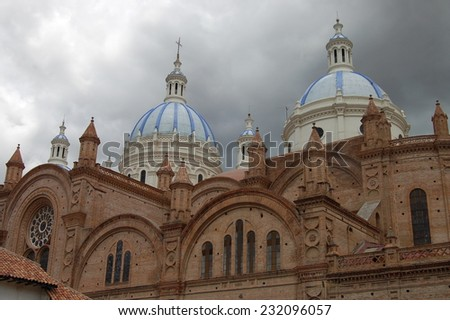 Cathedral Of The Immaculate Conception In Cuenca - stock photo
