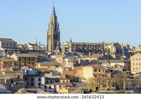 Cathedral of Toledo (Spain) - stock photo