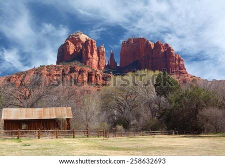 cathedral rock Sedona Arizona - stock photo