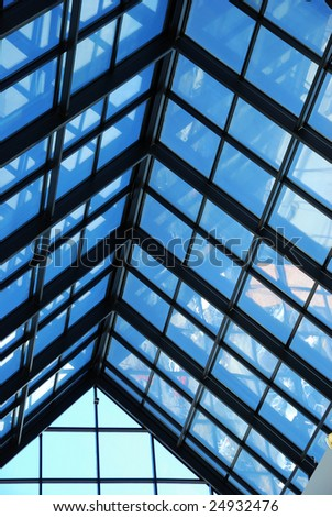 cathedral skylight window - stock photo