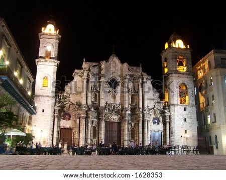 Cathedral square. Havana. Cuba - stock photo