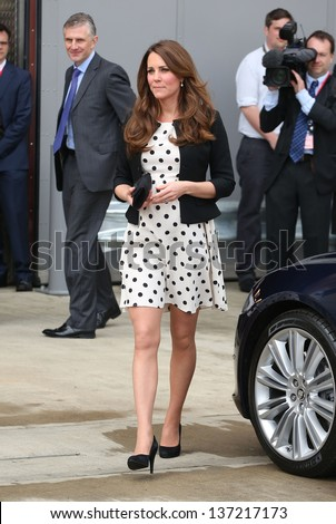 Catherine Duchess of Cambridge attending the Inauguration of Warner Bros. Studios in Watford, England. 26/04/2013 - stock photo