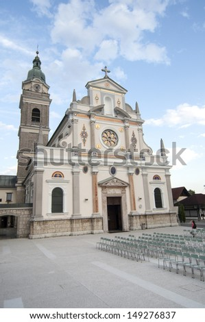 catholic basilica - stock photo