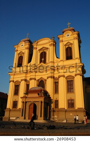 Catholic Cathedral in Timisoara, Romania - stock photo