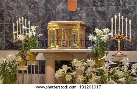Catholic Church Tabernacle - stock photo