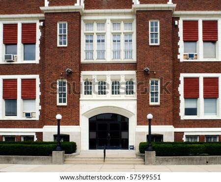 Catholic School Entrance - stock photo