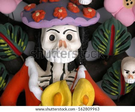 Catrina ceramic sculpture           - stock photo