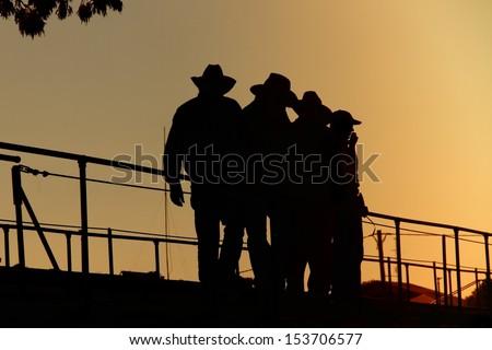 cattlemen - stock photo