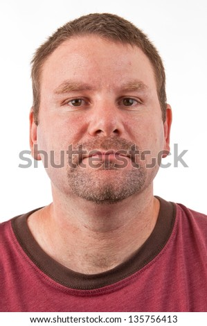 Caucasian male with a goatee facing forward - stock photo