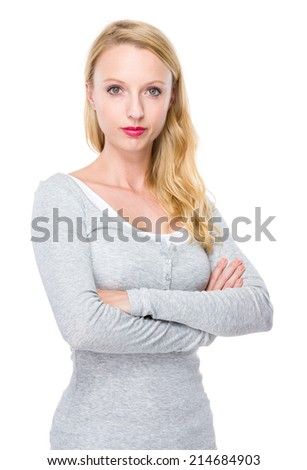 Caucasian woman - stock photo