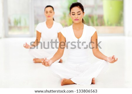 caucasian women praying - stock photo