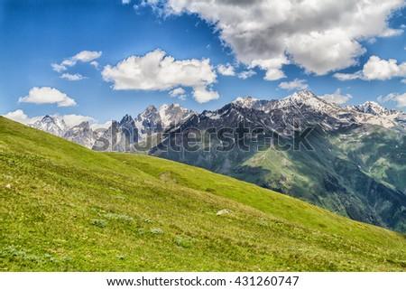 Caucasus mountains, Georgia - stock photo