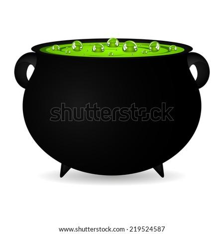 cauldron witches potion for Halloween  - stock photo
