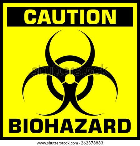 caution biohazard sign - stock photo