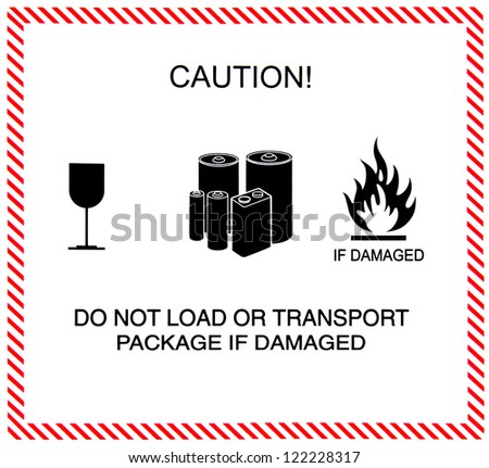 Caution of transportation - stock photo