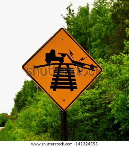 Caution! Rough Crossing Ahead. - stock photo