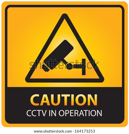 Caution with CCTV in Operation text and sign isolated.JPG - stock photo