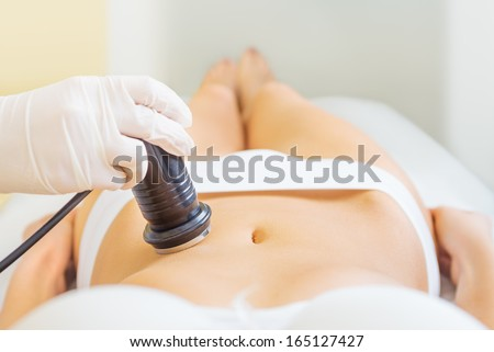 Cavitation treatment - stock photo