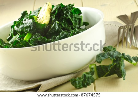 cavolo nero with butter - stock photo