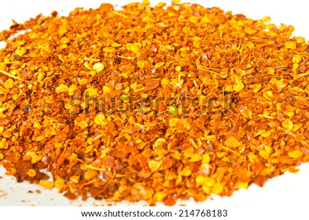 Cayenne Pepper Texture  - stock photo